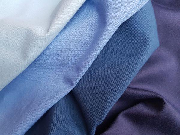 Farbberatungstücher in Blautönen