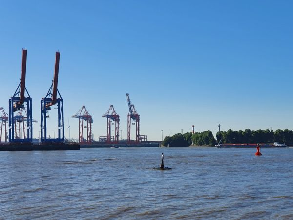 Leuchtturm Hamburg Elbe Bubendey Richtfeuerlinien Oberfeuer