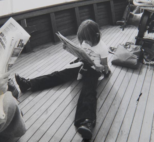 Ines Meyrose in den 1970ern auf einem Schiff