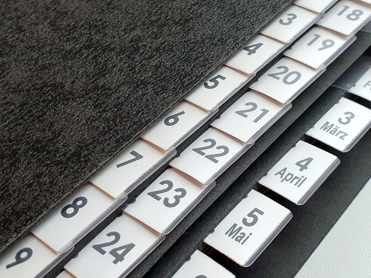Pultordner - Terminordner für Tage und Monate