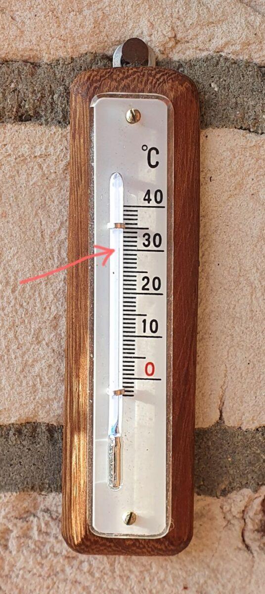 Thermometer 30 Grad