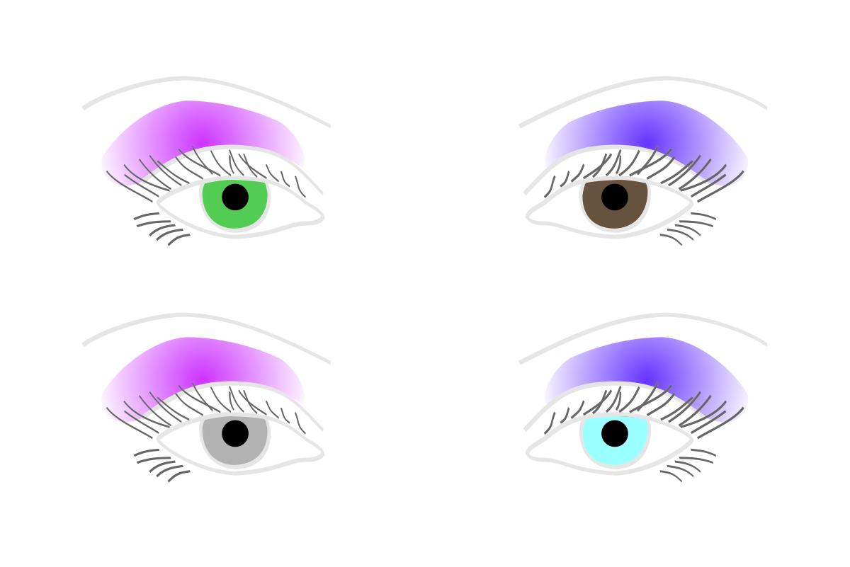 Lidschattenfarben rosa und lila passen zu allen Augenfarben