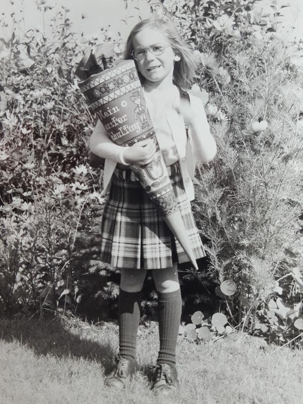 Ines Meyrose 1977 Einschulung