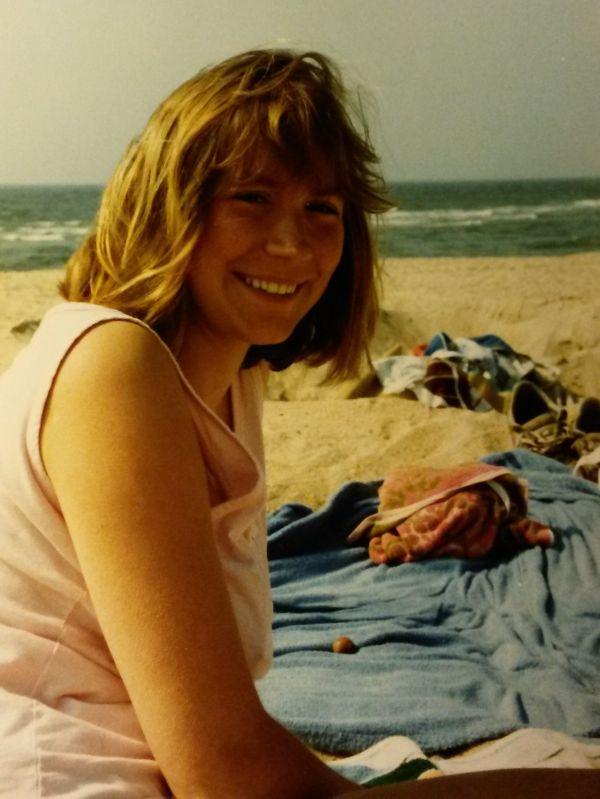 Ines Meyrose 1988 in Hörnum auf Sylt