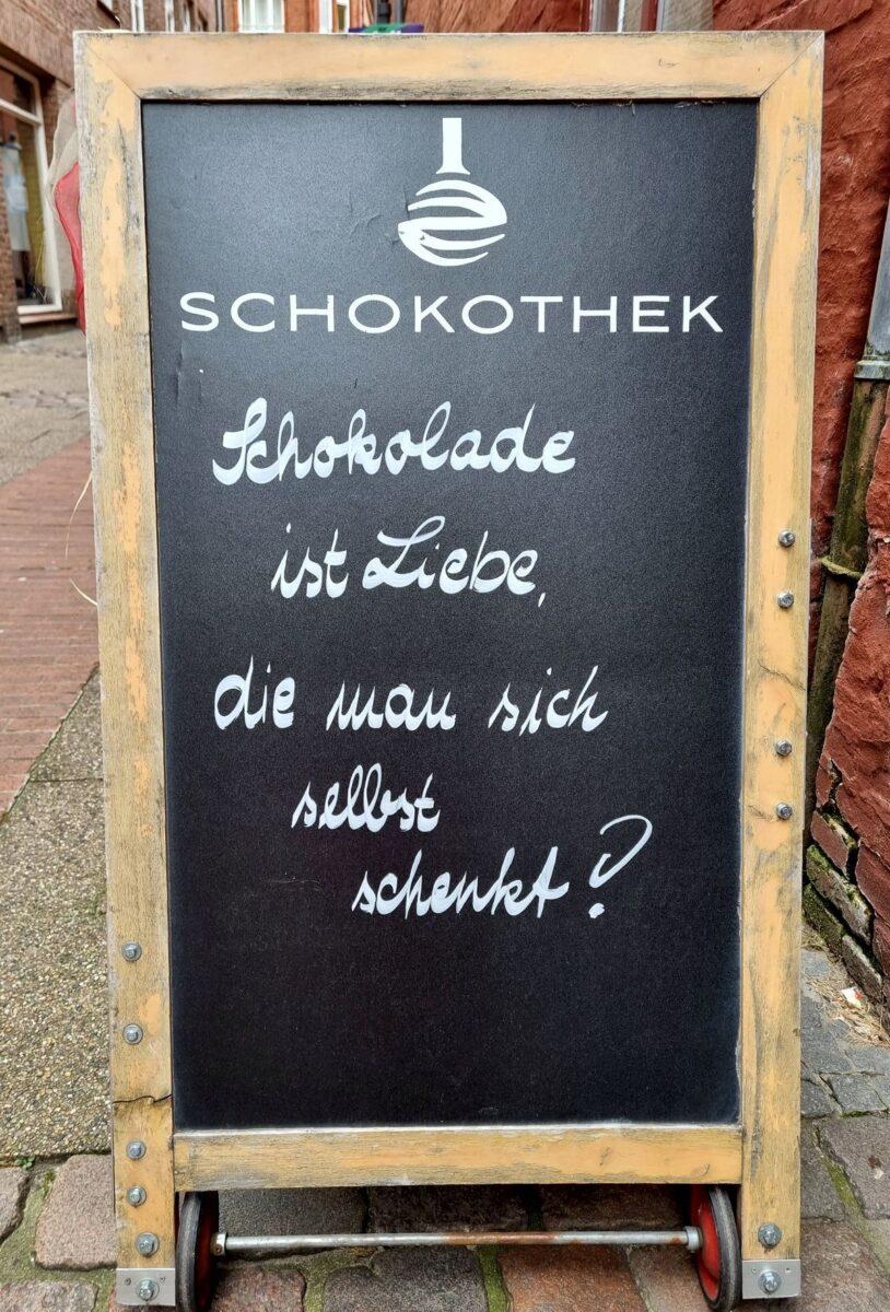 Schokolade ist Liebe, die man sich selbst schenkt!